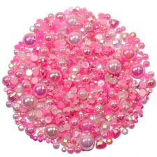 'PRINCESS PINKS' Theme Rhinestone and Pearl Embellishment Pack